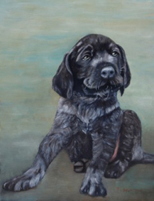 Schilderij puppie van Robert van Beurden.1
