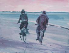 7.twee fietsers in de ruimte, 2013, 30x40, papier.2